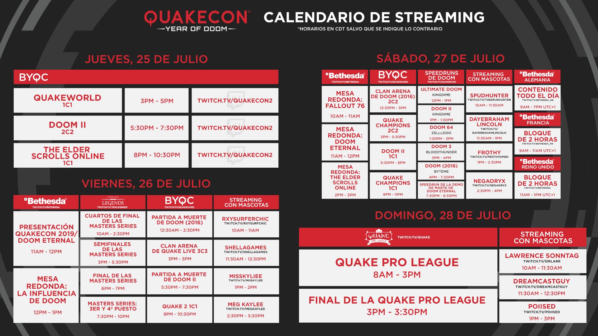 E3 Calendario.Twitch E3 2019 Calendario 14246 84 Quakecon 2019